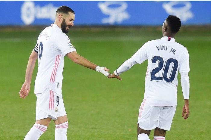 Karim Benzema dan Vinicius Junior diturunkan sejak menit awal menghadapi Real Mallorca untuk menjaga tren positif Real Madrid di Liga Spanyol.