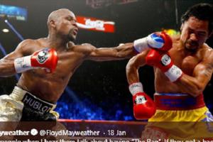 Kembali Terlibat Cekcok, Manny Pacquiao Sebut Mayweather Jr Cemburu