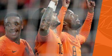 Duo Liverpool Gemilang, Belanda Pesta Gol ke Gawang Belarus