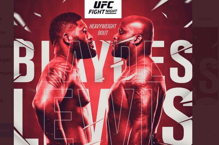 Poster UFC Vegas 19 Blaydes vs Lewis