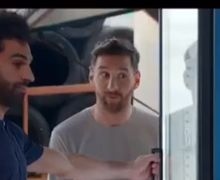 Video - Lionel Messi Vs Mohamed Salah, Rebutan Minuman Kaleng di SPBU