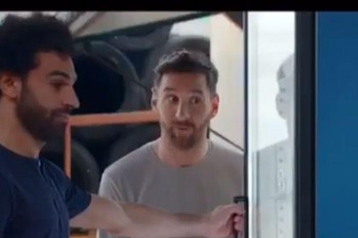 Potret Mohamed Salah dan Lionel Messi dalam iklan Pepsi