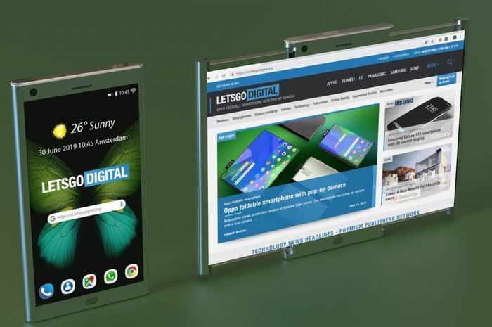 Gambaran model layar terbaru dari Samsung