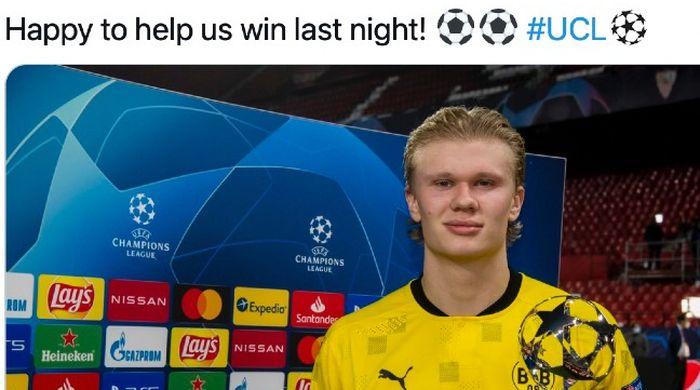 Bomber Borussia Dortmund, Erling Haaland.