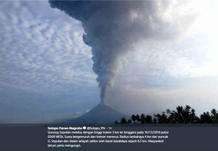 Gunung Soputan di Sulawesi Utara Meletus, Ini Kronologinya!