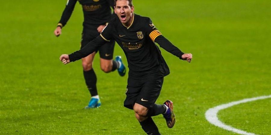 Video Lionel Messi Hancurkan Taktik Unik Granada yang Berusaha Halangi Tendangan Bebasnya