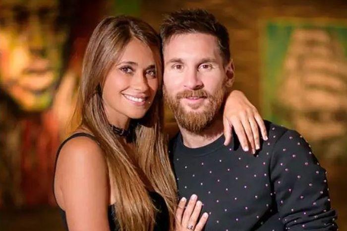 Lionel Messi dan Antonella Rocuzzo