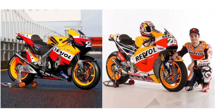 Honda RC212V (2009) vs Honda RC213V (2018)