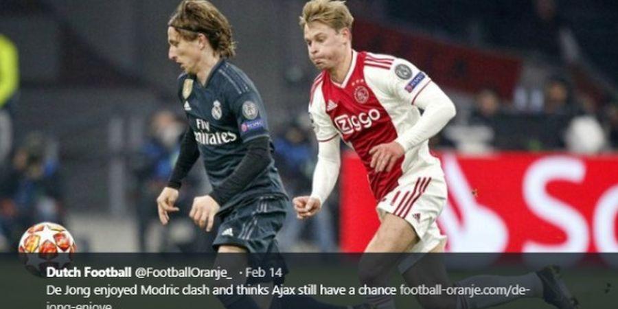 Duel Kunci Real Madrid Vs Ajax: Luka Modric Vs Frenkie de Jong