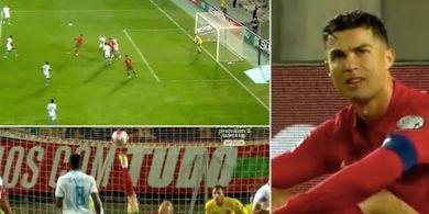 Cristiano Ronaldo Nyaris Cetak Gol Terbaik Sepanjang Karier pada Menit 68 Vs Luksemburg