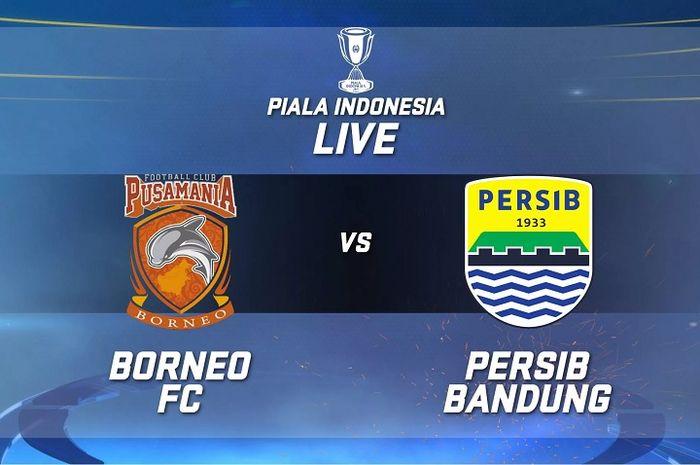 Borneo FC versus Persib Bandung dalam duel leg pertma babak 8 besar Piala Indonesia 2018-2019 di Stadion Segiri, Samarinda, Rabu (24/4/2019).