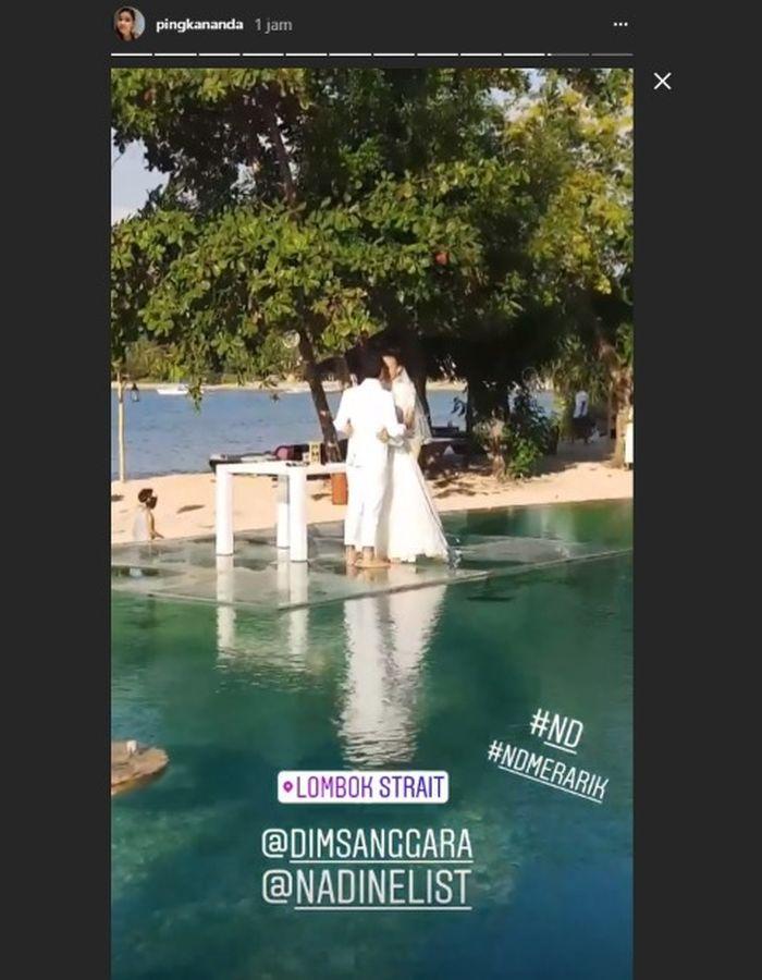 Konsep pernikahan di atas air Nadine Chandrawimata