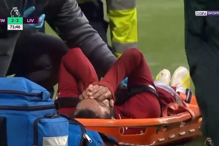 Mohamed Salah seusai kepalanya terbentur