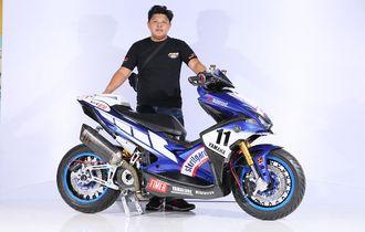 Pakai Livery Yamaha di WSBK, Aerox Ini Terbaik di Customaxi Bandung