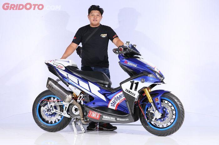 Pemenang kelas Master Yamaha Aerox Customaxi Bandung
