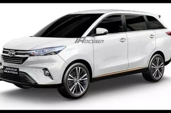 Renderan Daihatsu Xenia baru yang terinspirasi dari mobil konsep DN Multi Six