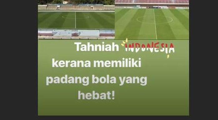 Unggahan foto instastory Tunku Ismail Sultan Ibrahim.