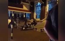 Honda BeAT Tersakiti, Dibanting Pemilik Sana-sini di Depan Jamaah Masjid