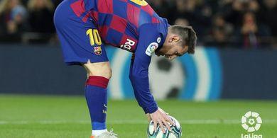 Tendangan  Bebas Messi Lebih Mematikan dari Penalti Manchester United