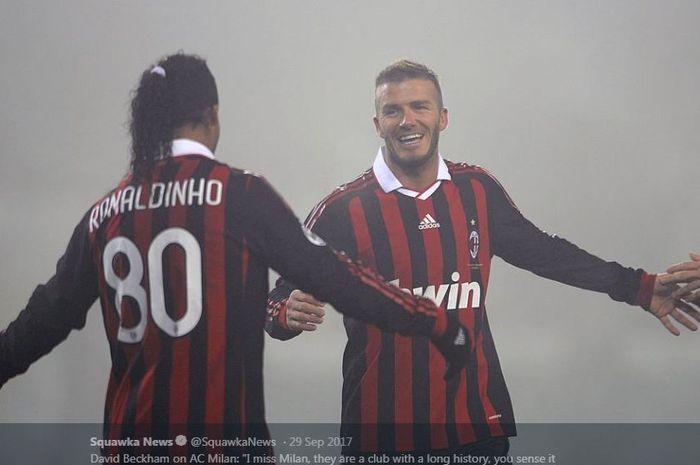 David Beckham saat berseragam AC Milan.