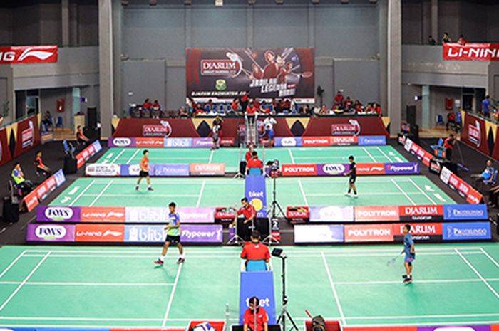 GOR Dempo, Jakabaring Sports City, Palembang, Sumatera Selatan, saat menggelar Djarum Sirnas Sumatera Selatan Open 2019.