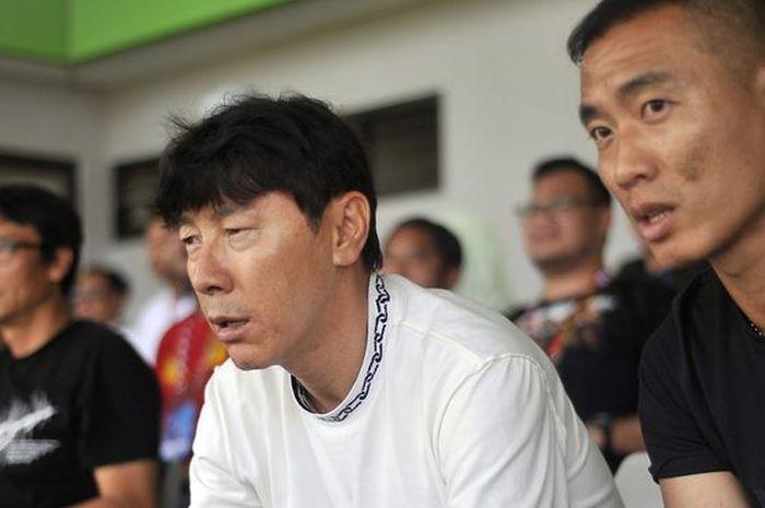 Shin Tae Yong, pelatih Timnas Indonesia.