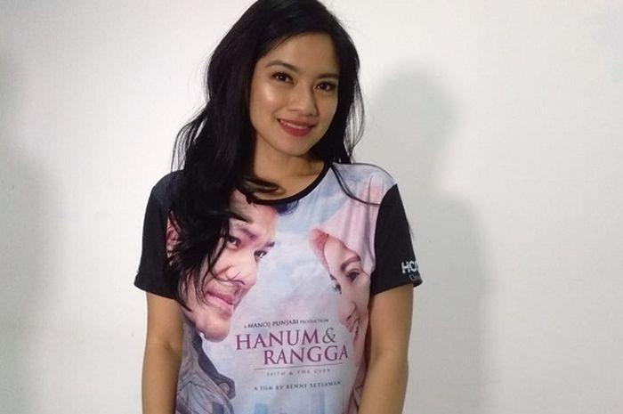Titi Kamal saat promosi film Hanum & Rangga