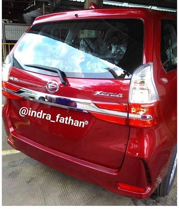 Facelift di bagian belakang Daihatsu Xenia 2019