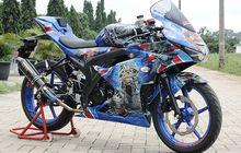 Suzuki GSX-R150 Rock 'N Roll, Semua Bodi Ditempeli Maskot Iron Maiden