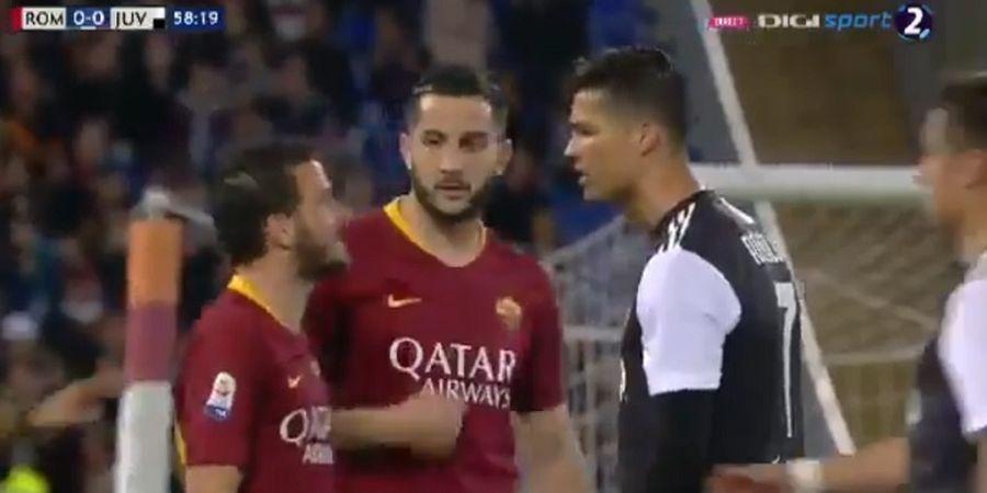 VIDEO - Sempat Hina Kapten AS Roma, Ronaldo Minta Maaf dengan Pelukan