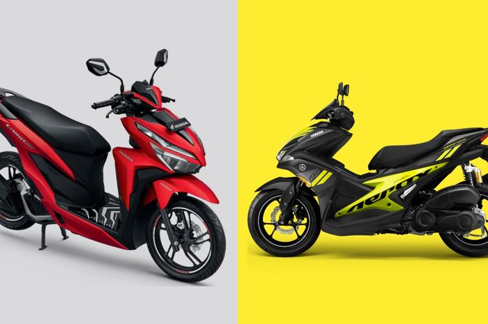 All New Honda Vario 150 dan Yamaha Aerox