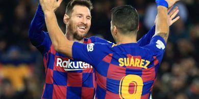 Tanpa Duet Lionel Messi-Luis Suarez, Total Gol Barcelona Terancam Turun 70 Persen