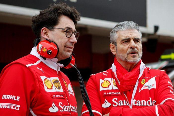 Mattia Binotto (kiri) akan menggantikan posisi Maurizio Arrivabene (kanan)