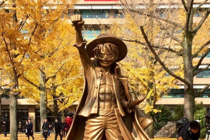 Patung Luffy di Prefektur Kumamoto, Jepang