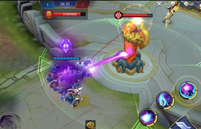 Zhask ultimate dalam turret lawan