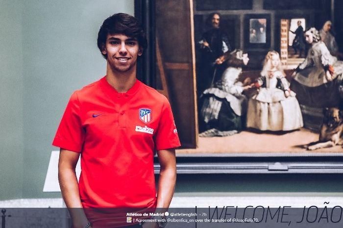 Pemain baru Atletico Madrid, Joao Felix.