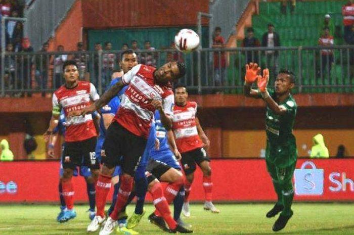 Suasana laga antara Madura United kontra Persiraja Banda Aceh di pekan kedua Shopee Liga 1 2020.