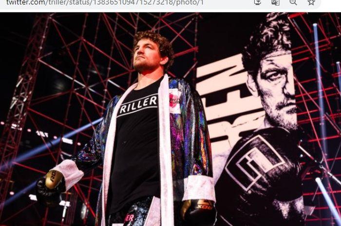 Mantan petarung MMA, Ben Askren, saat tampil di dunia tinju melawan Jake Paul, Minggu (18/4/2021).