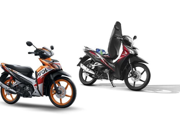 Honda Blade 125 dan Honda Supra X 125 Helm In hilang di website resmi AHM