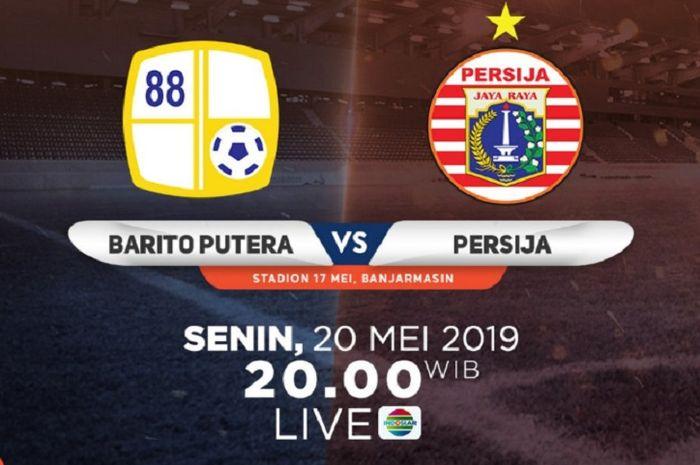 Barito Putera vs Persija Jakarta dalam pekan pertama Liga 1 2019 di Stadion 17 Mei, Banjarmasin, Senin (20/5/2019).