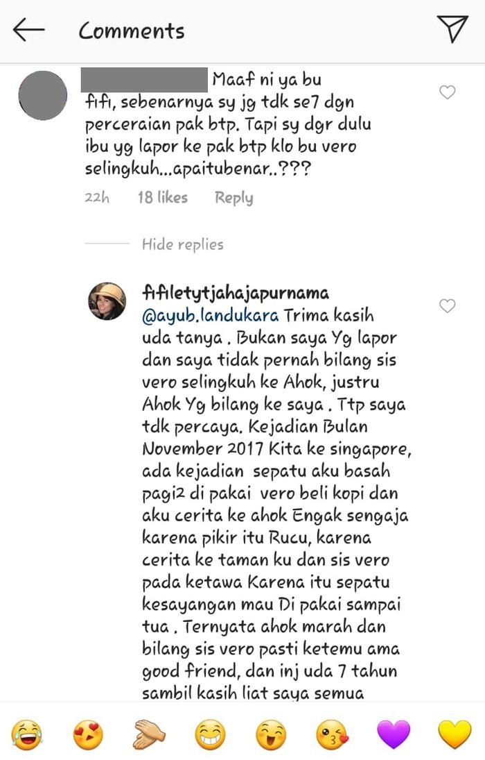 Fifi Lety beberkan kronologi lengkap perselingkuhan jadi sebab Ahok-Veronica Tan bercerai