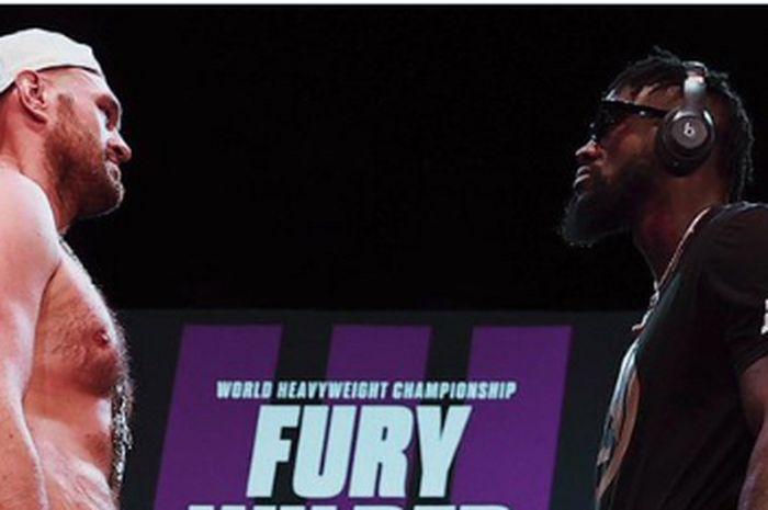 Dua monster tinju, Tyson Fury (kiri) dan Deontay Wilder (kanan).