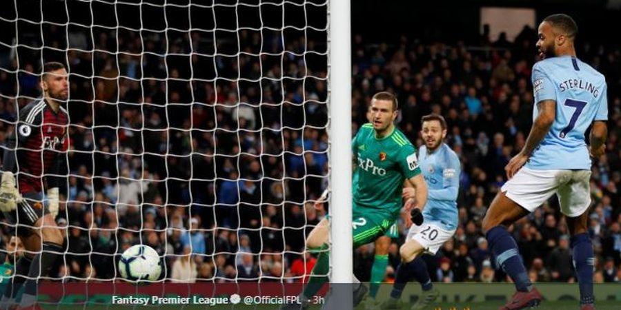 Hat-trick Sterling buat Man City Jadi Rekor Fenomenal di Liga Inggris