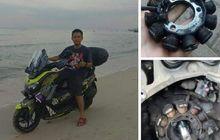 Sepul NMAX Rontok, Pemilik Akui Roda Belakang Sempat Terendam Pasir