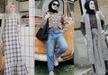 10 Ide Fashion Ayu Hijabers dengan Motif Plaid ala Selebgram Hijab!