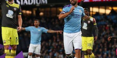 Ekspresi Pemain Man City Usai Menang atas Burnley, Aguero: Masha Allah, Alhamdulillah!