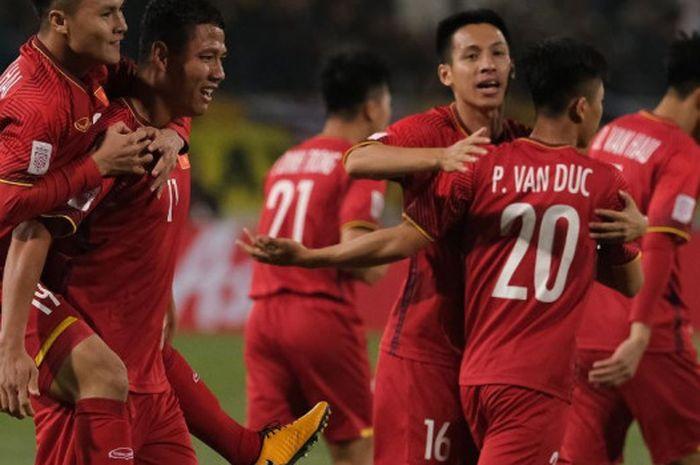 Para pemain timnas Vietnam