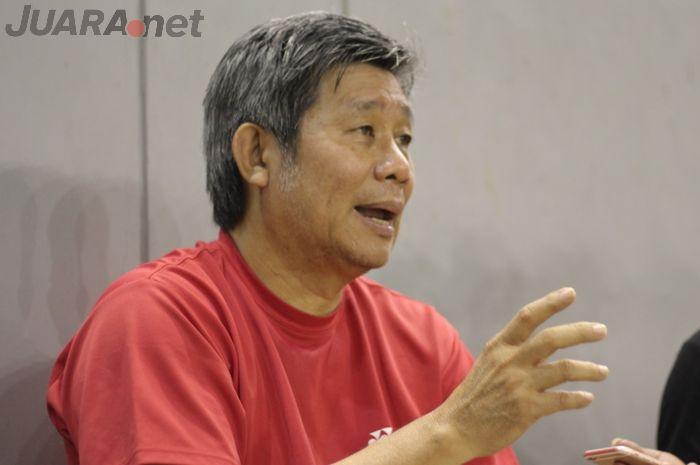 Wawancara bersama pelatih ganda putra Indonesia, Herry Iman Pierngadi di Pelatnas PBSI, Cipayung, Jakarta Timur.