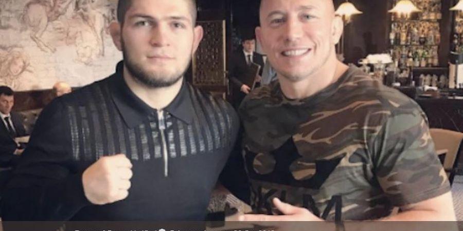 Direstui UFC, Georges St-Pierre Beri Respon Soal Tewaskan Khabib Nurmagomedov