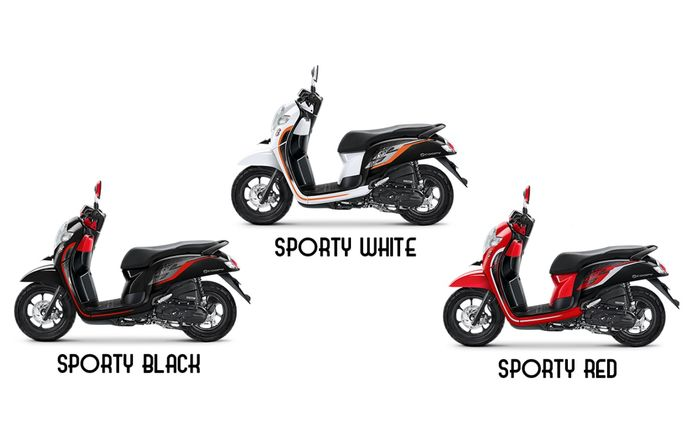 Pilihan warna Honda Scoopy varian sporty